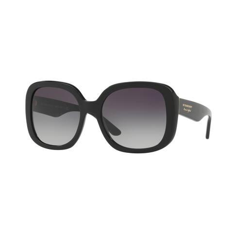 Burberry Square BE4259 WoMens BLACK Frame GRAY GRADIENT Lens Sunglasses