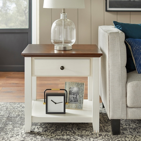 """Simple Living Charleston End Table - 24""""H x 23.75""""W x 23.75""""D"""