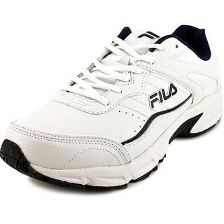 Fila Memory Sportland Men 4E Round Toe Leather White Running Shoe