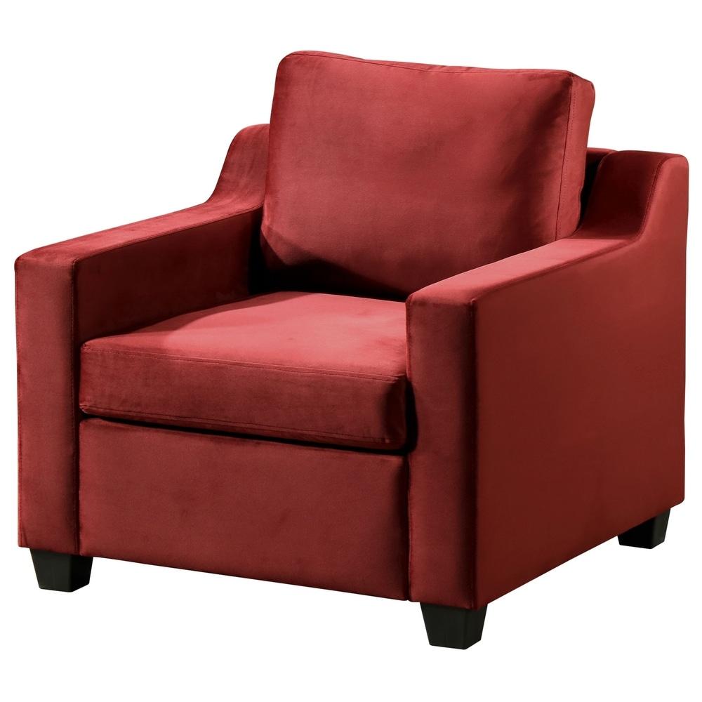 Ashley Velvet Living Room Chair (Loveseat - Black) -  Glory Furniture