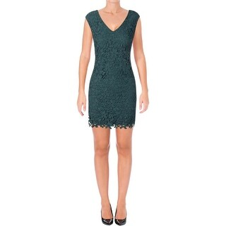 Lauren Ralph Lauren Womens Petites Cocktail Dress Sleeveless Mini