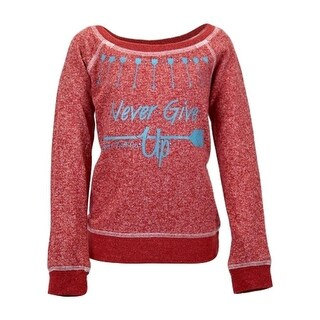 Cowgirl Tuff Western Sweatshirt Girls Arrows Never Give Up Red 100064