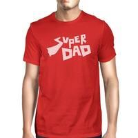 Super Dad Men's Red Graphic Design T Shirt Best Dad Gifts For Him