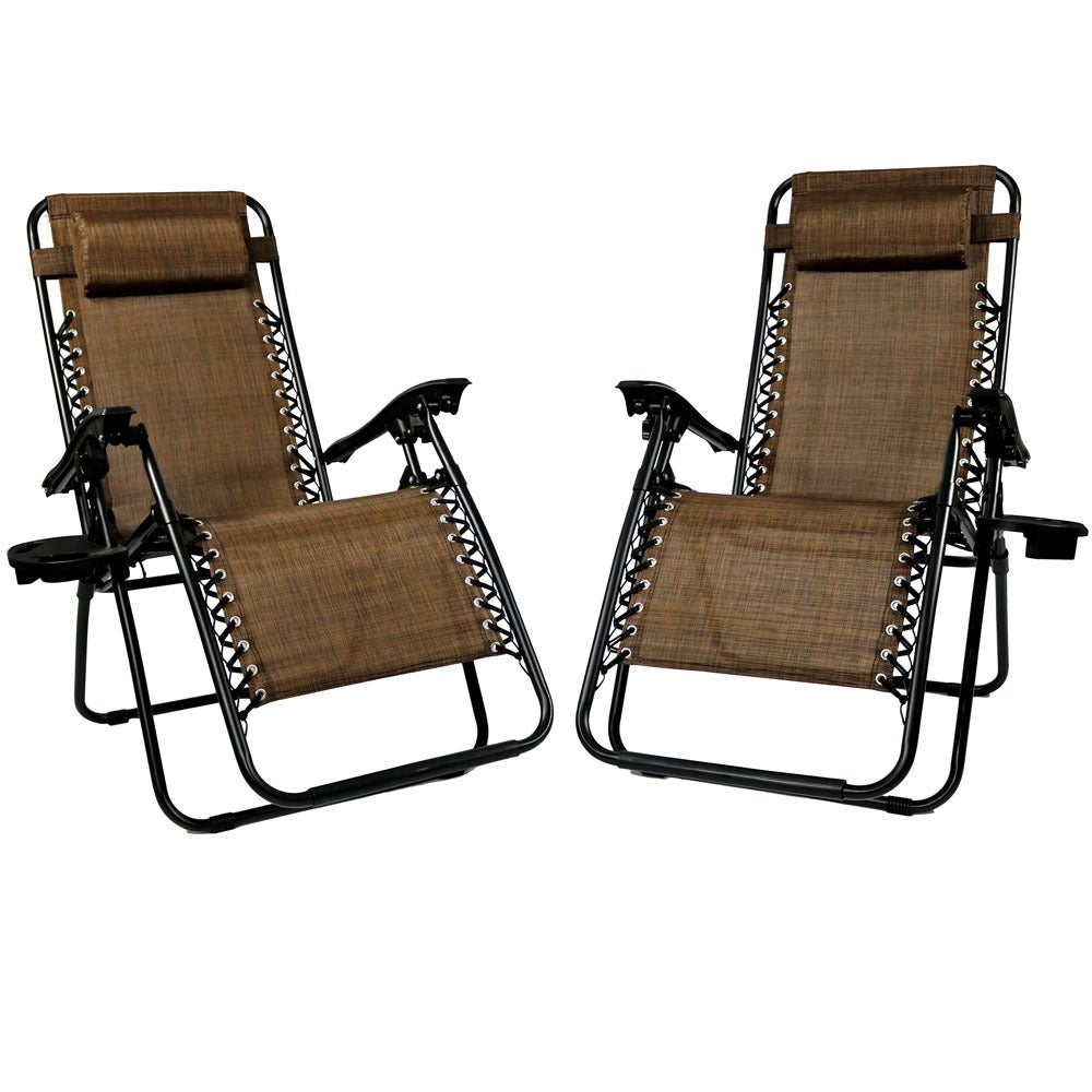 Sunnydaze Zero Gravity Lounge Chair with Pillow and Cup Holder, Multiple Colors Available - Thumbnail 41