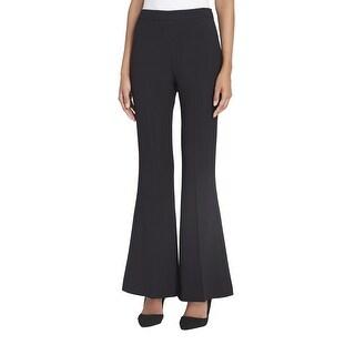 Tahari by ASL Black Womens Size 14 Flared Leg Flat Front Dress Pants