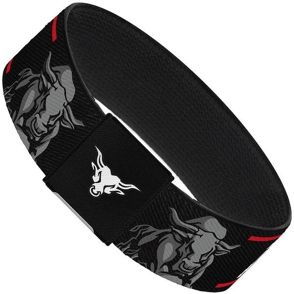 The Rock Bull Charge Black Red White Grays Elastic Bracelet