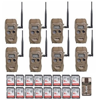 Cuddeback CuddeLink Trail Camera (8-Pack) with 16GB Card (16) and Reader
