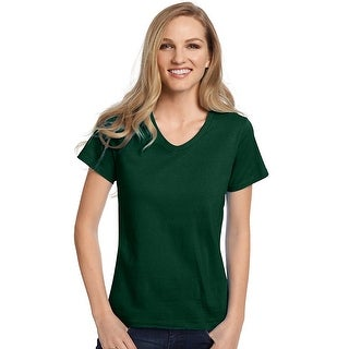 Hanes Relaxed Fit Women's ComfortSoft® V-neck T-Shirt - Size - 3X - Color - Deep Forest