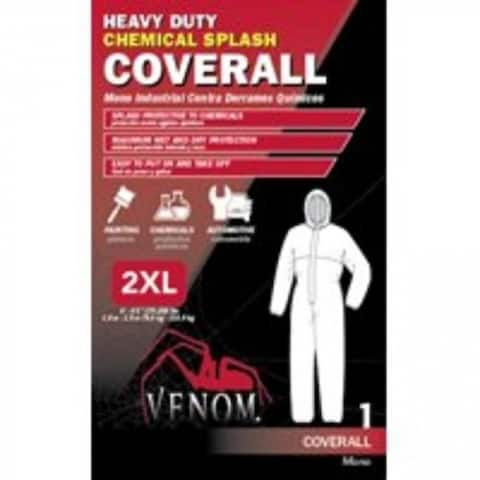 Medline VENCV400XXL Venom Chemical Resistant Coveralls, XX Large