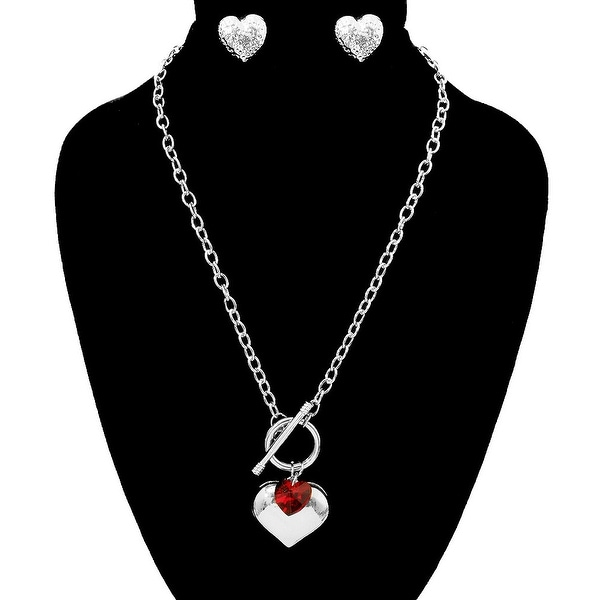 Heart Toggle Necklace Set for Love