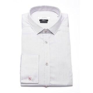 Versace Men Trend Cotton Dress Shirt Grey