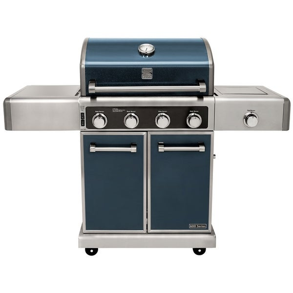 Kenmore Elite 4 Burner plus Side Burner-Metallic Flake Finish - Blue