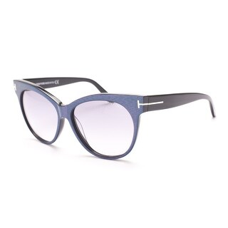 Tom Ford Women's Saskia Sunglasses Blue/Pink - Small