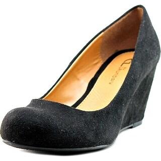 CL By Laundry Nima Women  Open Toe Synthetic Black Wedge Heel