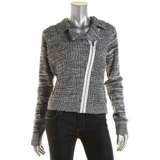Unionbay Womens Juniors Marled Zipper Cardigan Sweater - M