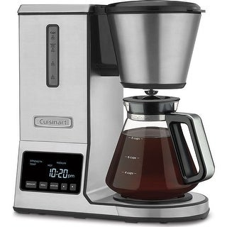 Cuisinart CPO-800 Pour Over Coffee Brewer Glass Carafe, Stainless Steel