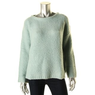 Zara Knit Womens Textured Long Sleeves Pullover Sweater - M