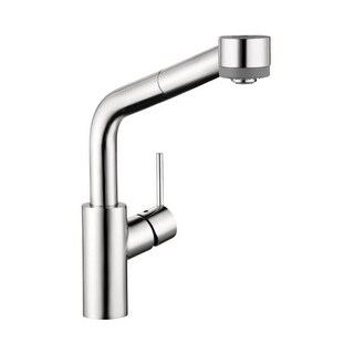 Hansgrohe 4247 Talis S Pull-Down Kitchen Faucet with High-Arc Spout & Locking Spray Diverter - Includes Lifetime Warranty