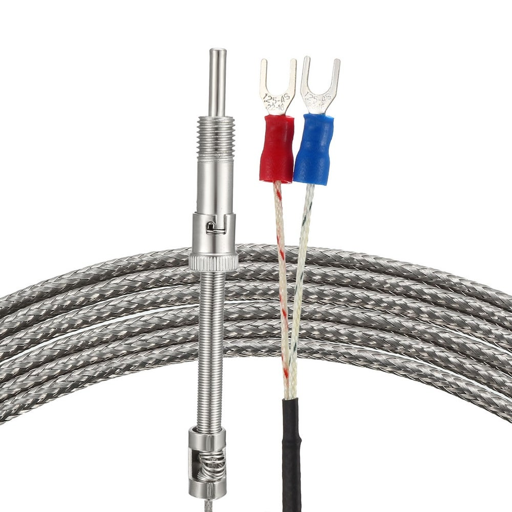 BokWin K Type Thermocouple 5x150mm Temperature Sensor Probe with 2M Cable Length 1PC