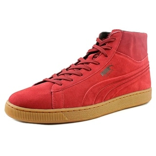 Puma Suede Mid Emboss Men Round Toe Suede Red Sneakers