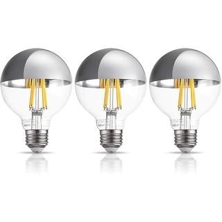 G25 Half Chrome Light Bulb, Warm White 3000K, 3 Pack