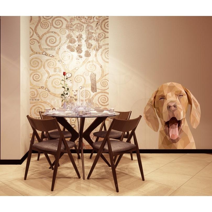 Chocolate Labrador Dog Frame Theme Adhesive Wall Sticker Art Decal Mural