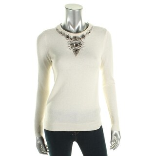 Magaschoni Womens Blouse Embellished Long Sleeve