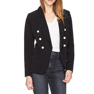 Kensie NEW Black White Double-Breasted Medium M Pearl Buttoned Jacket