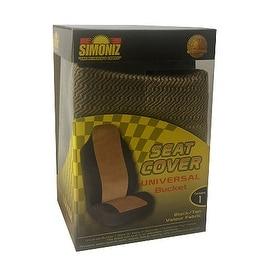 Simoniz Universal Bucket Seat Cover Black and Tan