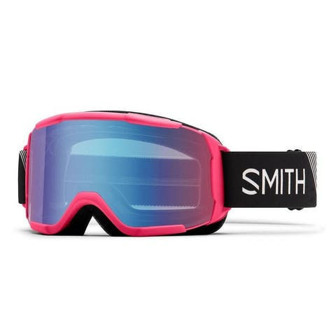 Smith Optics Daredevil Youth Snow Goggles (Pink Strike Frame/Blue Mirror Lens) - Pink