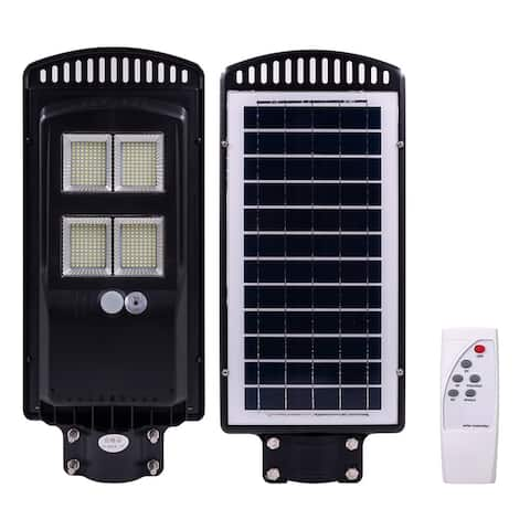 150W LED Solar Street Light Radar Induction Outdoor Wall Lamp + Remote