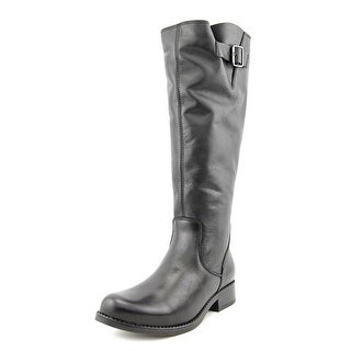 Steve Madden Trico Round Toe Leather Knee High Boot