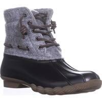 Steve Madden Torrent Short Rain Boots, Grey Multi