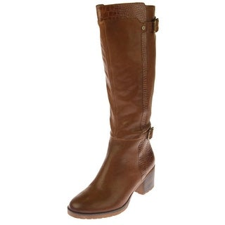 Naturalizer Womens Rozene Knee-High Boots Leather Lizard Embossed