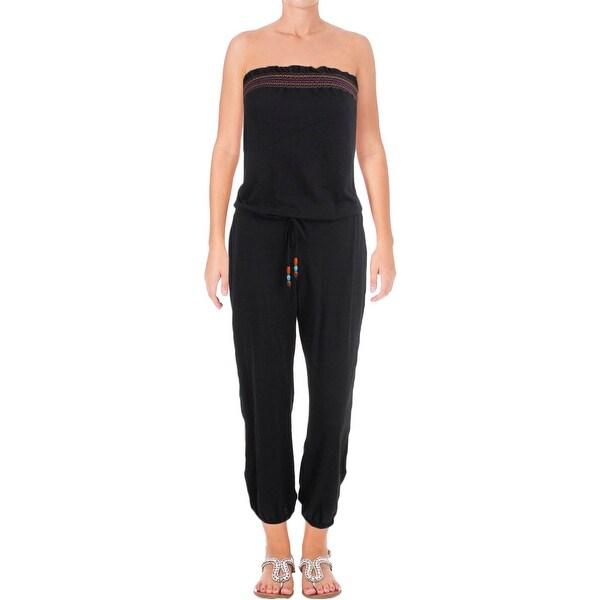 ade2ce9866486 Shop Lucky Brand Womens Love Fiesta Strapless Stretch Jumpsuit Swim ...