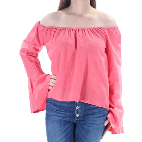 BUFFALO Womens Coral Bell Sleeve Off Shoulder Peasant Top Size: M