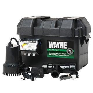 Wayne ESP15 Battery Back-Up Sump Pump System, 1/4 HP, 12 V