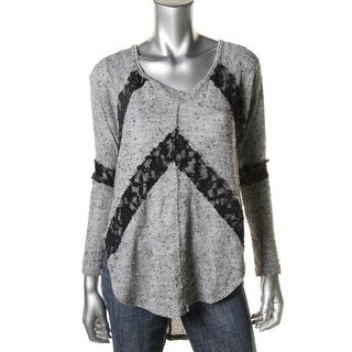 Free People Womens Knit Long Sleeves Pullover Sweater - S