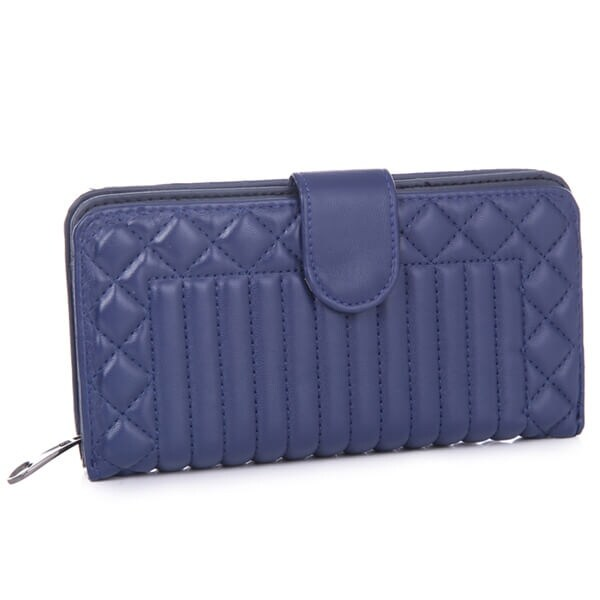 Mad Style Navy Heather Embossed Wallet