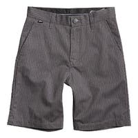 Fox 2015 Kid's Essex Short - Pinstripe - 01957 - Charcoal Heather