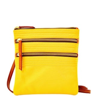 Dooney & Bourke Nylon Triple Zip (Introduced by Dooney & Bourke at $88 in Feb 2014) - Lemon