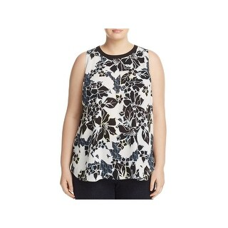 Vince Camuto Womens Blouse Hi-Low Sleeveless
