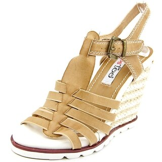 Two Lips Too Hope Women Open Toe Synthetic Wedge Sandal