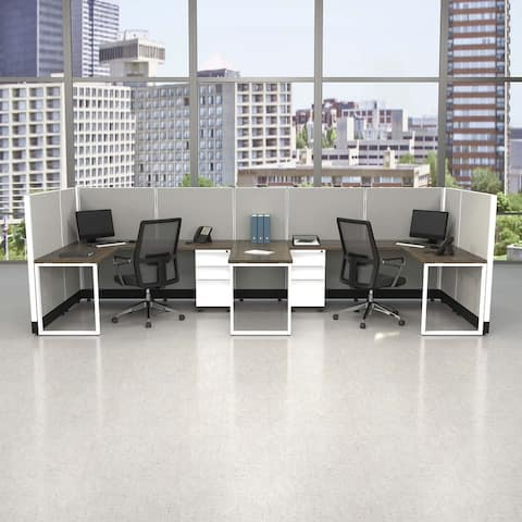 Commercial Office Furniture 53H 2pack Bullpen Powered
