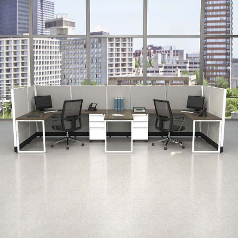 Commercial Office Furniture 53H 2pack Bullpen Unpowered