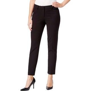 Kensie Womens Straight Leg Pants Solid Stretch