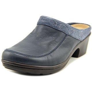 Easy Spirit 7 Lugano Women W Round Toe Leather Blue Mules