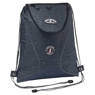 Harley-Davidson Sling Backpack, Lightweight & Durable Blue Rain Design 99667 BR