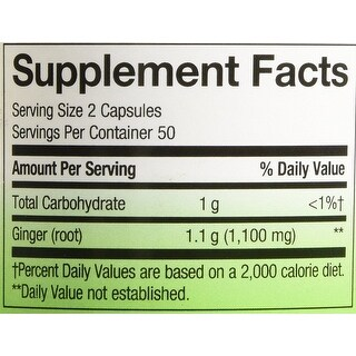 Nature's Way Ginger Root 100 Capsules