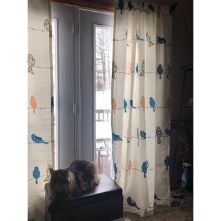 Lush Decor Rowley Birds Light Filtering Curtain Panel Pair